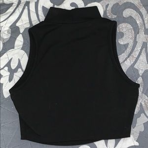 ANGL Tops - Angl tight and cropped high neck shirt